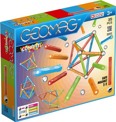 Geomag 351 Confetti Construction Toy Multi-coloured 35 Pieces Magnetic